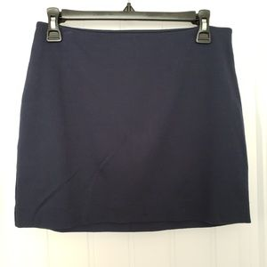 Navy Blue Express Mini Skirt, Size 2